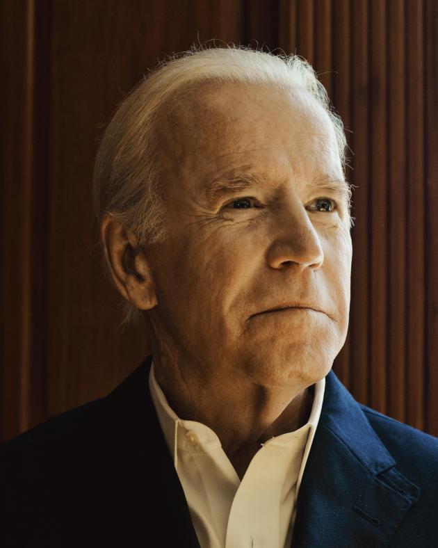 Joe Biden chez lui à Wilmington ( Delaware), en octobre 2017.