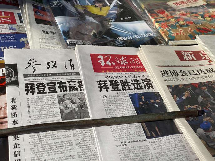 Des « Une» de quotidiens chinois titrent