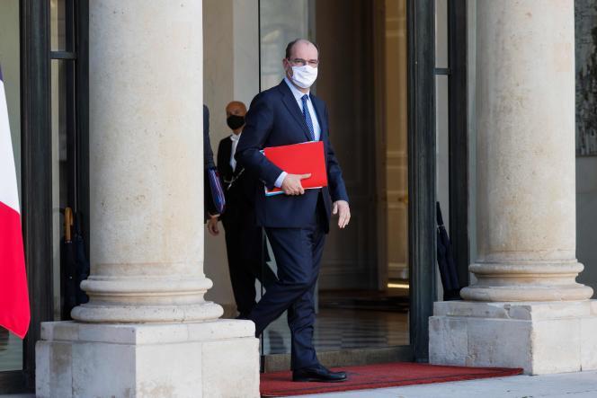 Le premier ministre Jean Castex, à la sortie du conseil des ministres, à l'Elysée, le 4 novembre.