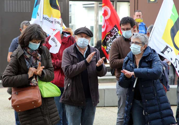 Manifestation d'enseignants à Pau, le 10 novembre.