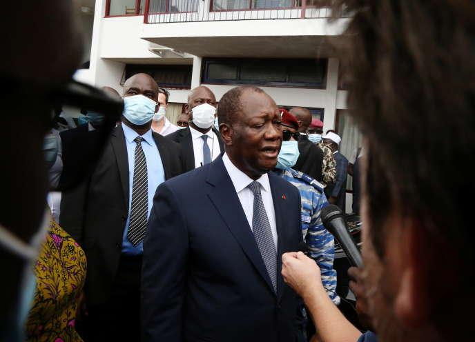 Le président ivoirien, Alassane Ouattara, à Abidjan, le 31octobre2020.