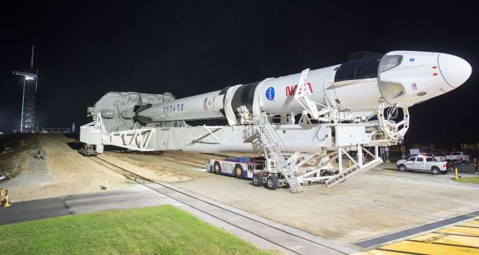 Une fusée SpaceX, le 9novembre, auCentre spatial Kennedy, en Floride.