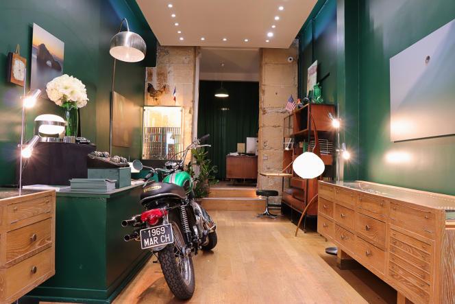 Le magasin de la rue Charlot, à Paris.