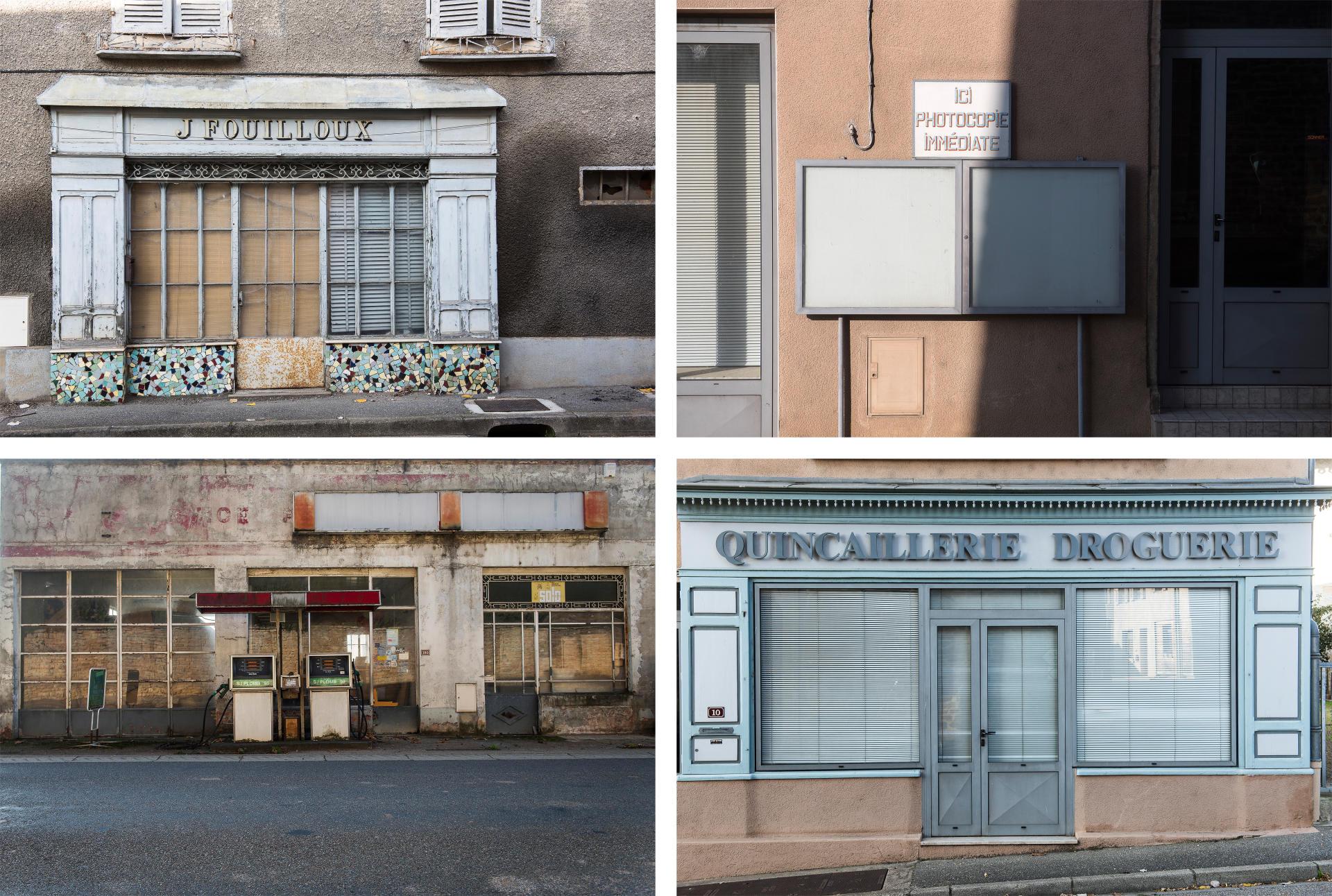 Le village de Pierreclos, dans le Mâconnais, où beaucoup de commerces ont fermé leurs portes.