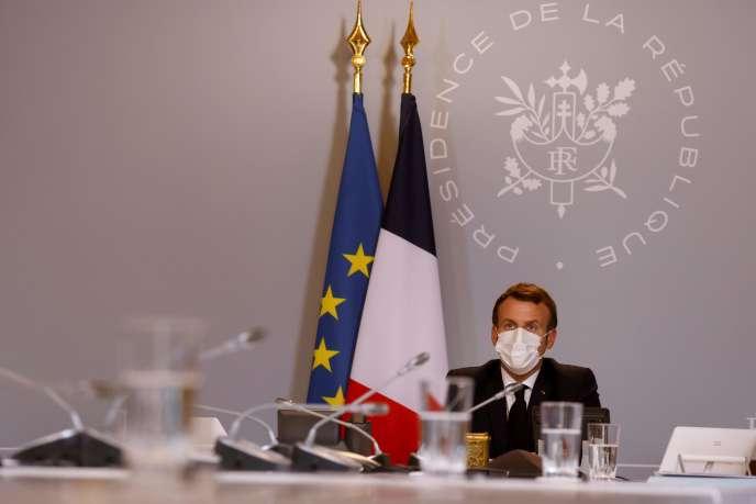 Le président, Emmanuel Macron, le 6 novembre à l'Elysée.