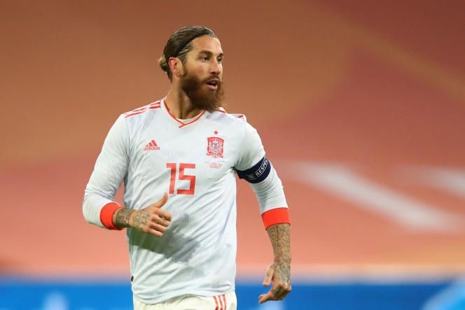 Sergio Ramos durante un amistoso entre España y Holanda el 11 de noviembre de 2020 en Amsterdam.