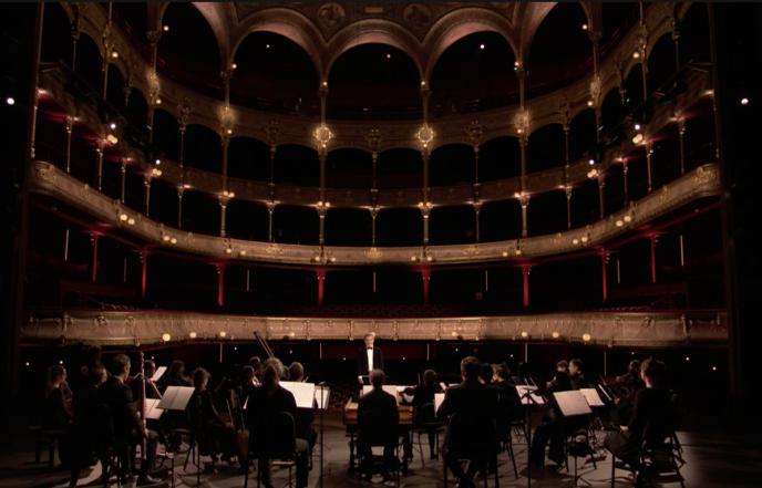 «Les Talens lyriques interprètent Haendel au Théâtre du Châtelet», le 8 novembre 2020, dans une France confinée et une salle vide. Leur concert est visible sur Arte.tv.