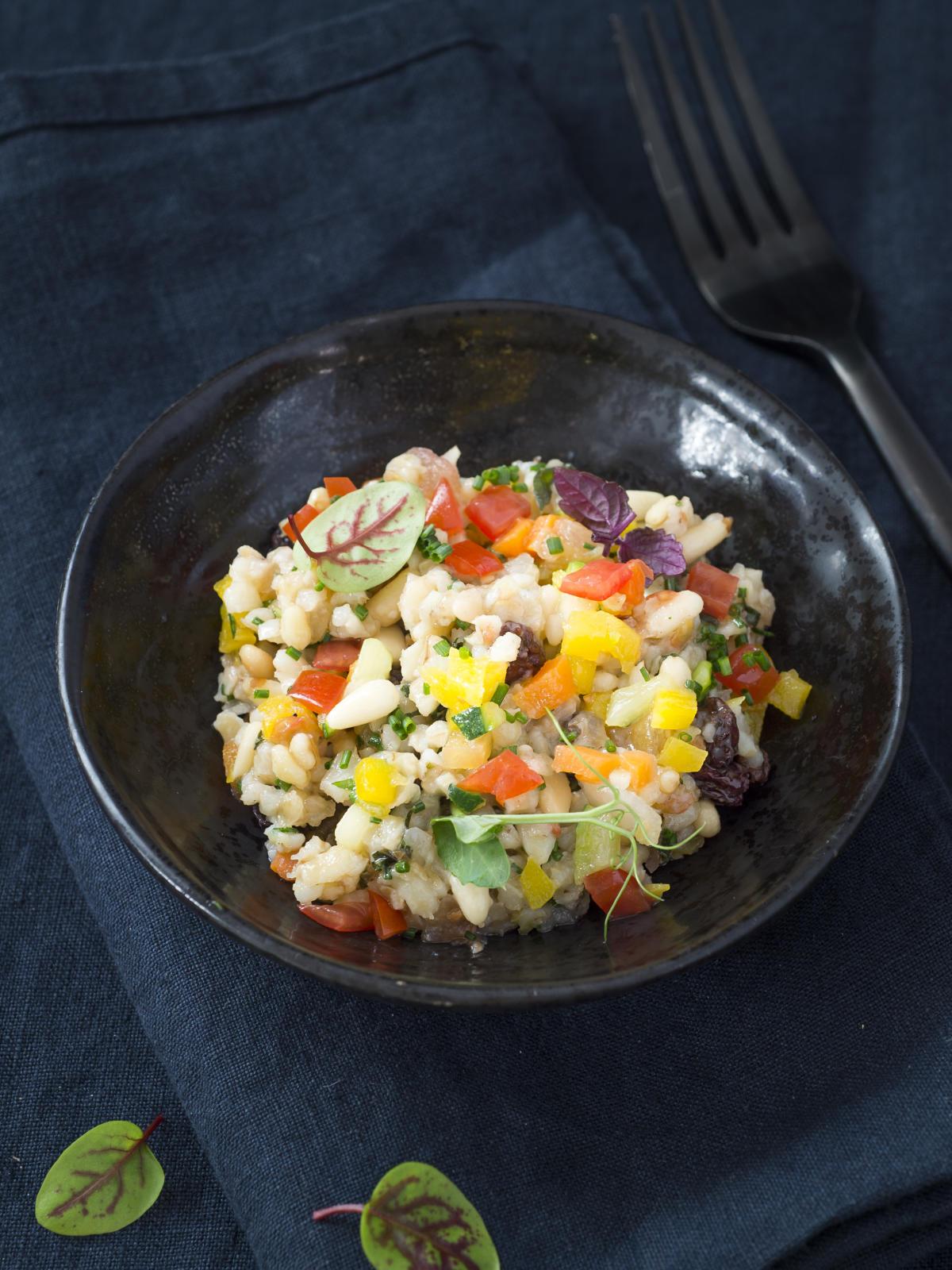 Salade de boulgour et petits légumes, Dalloyau.