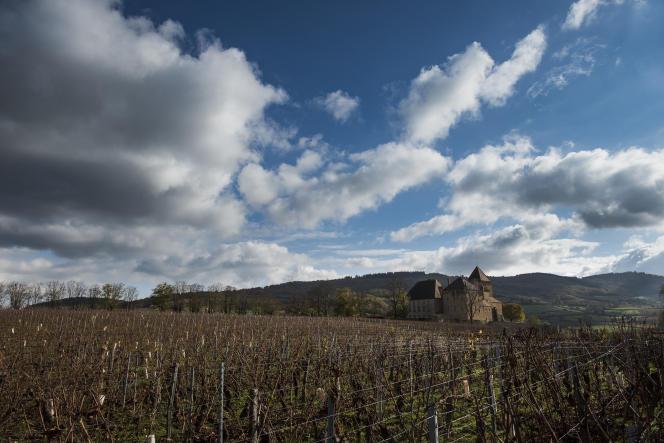 Le village (et son château) de Pierreclos, en Saône-et-Loire, exemple de territoire rural en désertification où s'est ouvert un Comptoir de campagne, une épicerie multiservice.