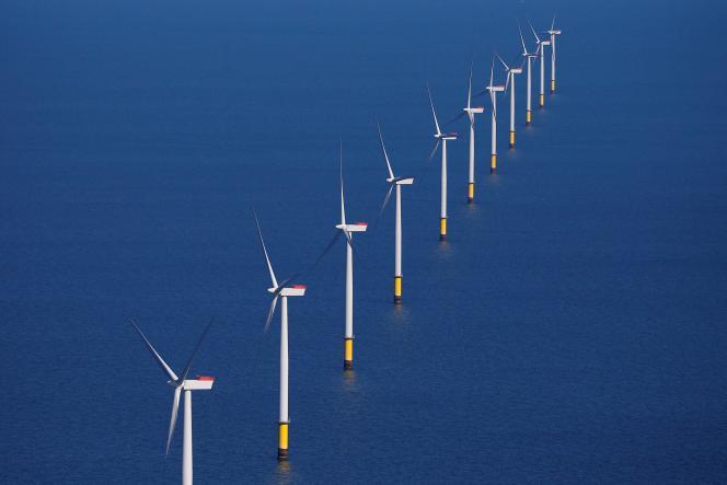 Le parc éolien maritime Walney Extension, au large de Blackpool au nord-ouest de l'Angleterre, exploité par la société danoise Orsted, le 5 septembre 2018.