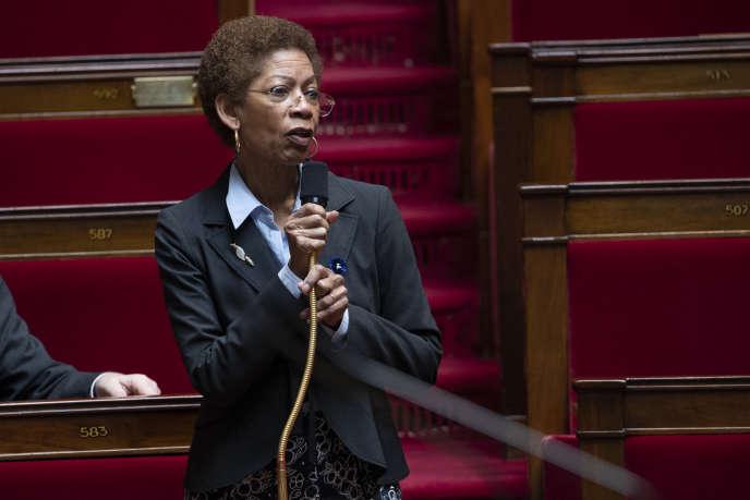 La députéede la 15e circonscription de Paris George Pau-Langevin, à l'Assemblée nationale, le 8 mai.