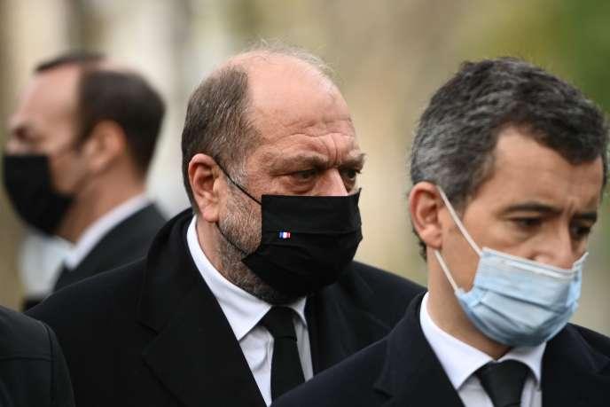 Eric Dupond-Moretti, le garde des sceaux, et Gérald Darmanin, le ministre de l'intérieur, ont défendu ensemble le texte auprès du« Figaro».