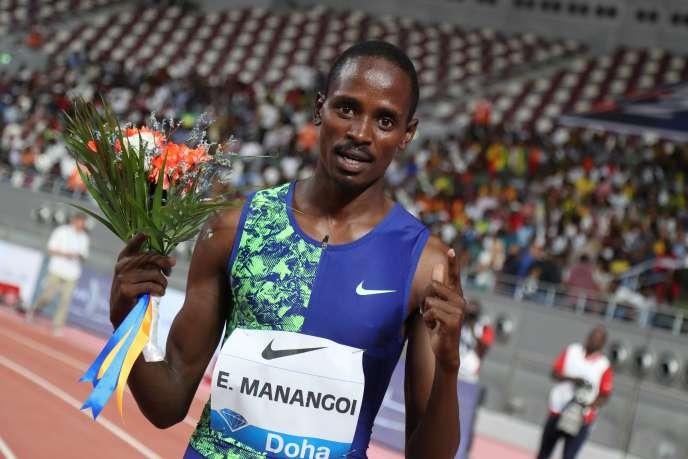 Elijah Manangoi, 27 ans, ne pourra pas participer aux Jeux olympiques de Tokyo, reportés à l'été 2021 - si ceux-ci ont bien lieu.