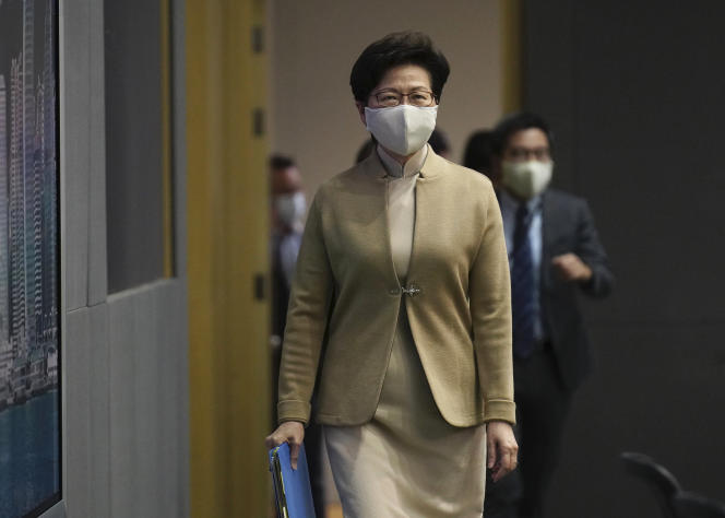 La chef de l'exécutif, Carrie Lam, à Hongkong, le 11 novembre.