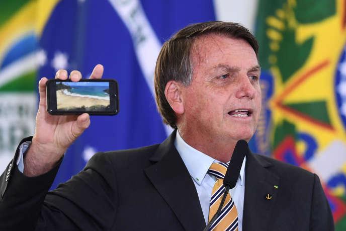 Jair Bolsonaro, à Brasilia, le 10 novembre.