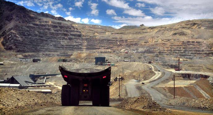La mine de cuivre de Los Bronces, au Chili, en 2011.