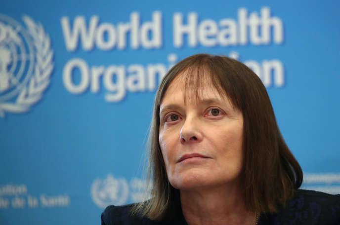 Marie-Paule Kieny, présidente du comité scientifique vaccin Covid-19, àGenève, le 11 février.