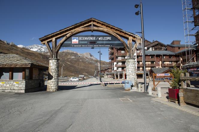 Dans la station de Tignes (Savoie) le 11novembre.