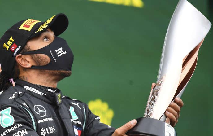 Lewis Hamilton après son septième sacre, le 15 novembre 2020.