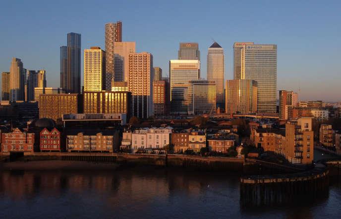 Vue du quartier d'affaires de Londres, le 4 novembre 2020.