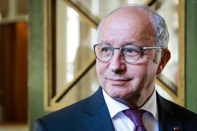 Laurent Fabius au Conseil constitutionnel le 21 juillet.
