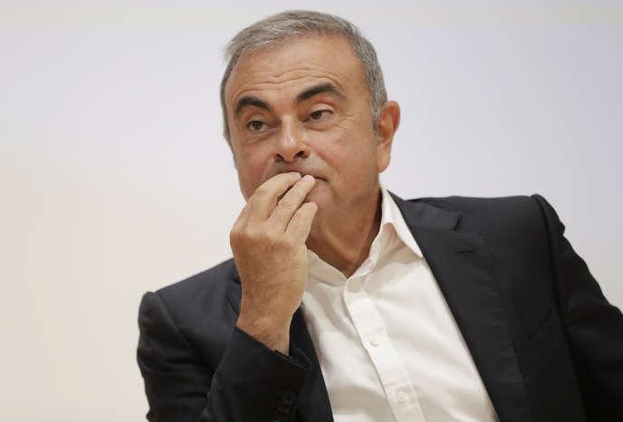 L'ancien président de Nissan, Carlos Ghosn, lors d'une conférence de presse, à Jounieh (Liban), le 29 septembre.