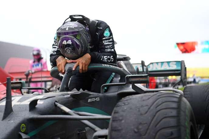 L'excitation de Lewis Hamilton après son septième titre mondial