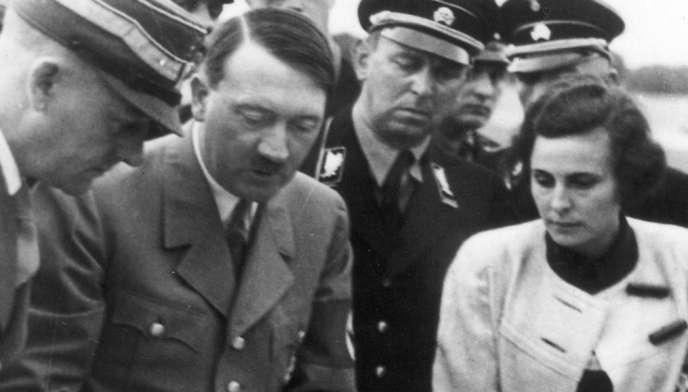 Leni Riefenstahl, au côté d'Adolf Hitler, en 1934.