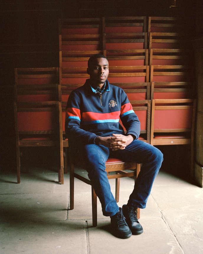 Joshua Adeyemi, en deuxième année de sciences politiques au collège Saint John de Cambridge, le 16 octobre.