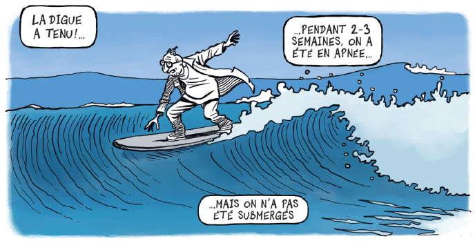 « Au cœur de la vague», de Patrick Chappatte.