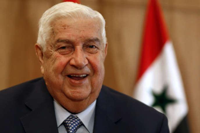 Walid Al-Mouallem, le 23 juin 2020, à Damas.
