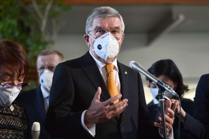 Thomas Bach, le président du Comité international olympique (CIO), le 16 novembre lors d'une conférence de presse à Tokyo.