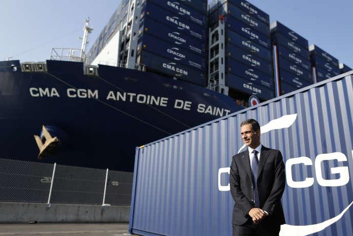Le patron de l'armateur CMA CGM, Rodolphe Saadé, au Havre (Seine-Maritime), le 6 septembre 2018.