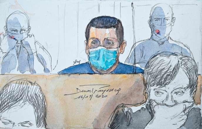 Jonathann Daval au tribunal de Vesoul, le 16 novembre