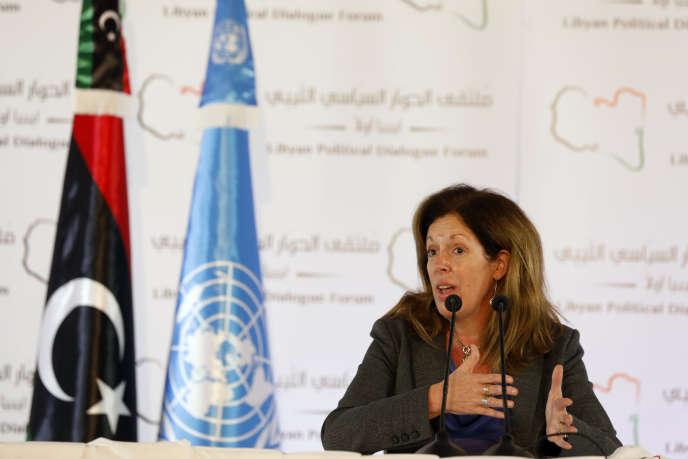 L'émissaire par intérim de l'ONU pour la Libye, Stephanie Williams, le 15 novembre à Tunis, Tunisie.