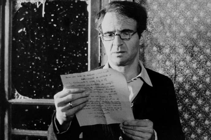 Le réalisateur et acteur français François Truffaut, le 3 avril 1978, lors du tournage de son dernier film «La Chambre verte».