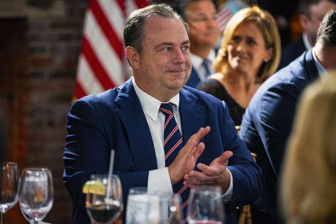 Christopher Ruddy, ami de Donald Trump et patron de Newsmax, en août2018.