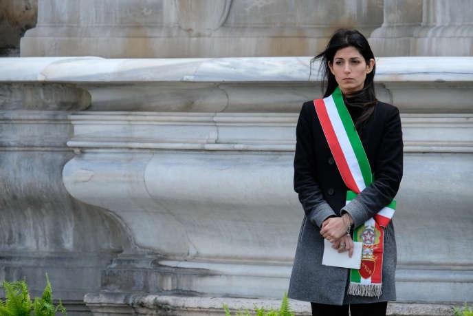 Virginia Raggi, la maire de Rome, le 31 mars.