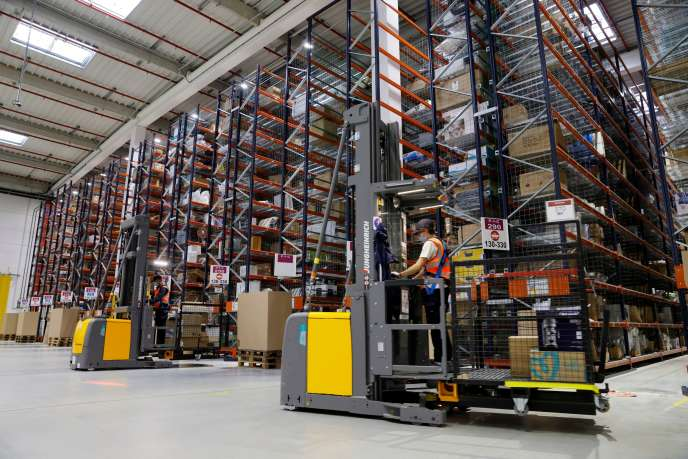 Le centre Amazon de Boves, dans la Somme, en septembre.