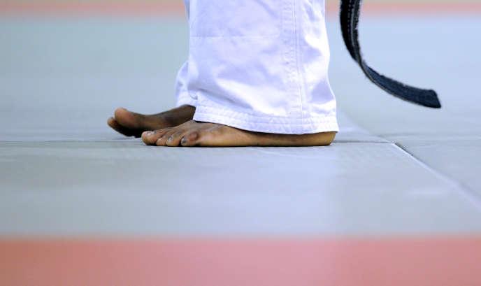 Session d'entraînement de judo, à l'Insep, en 2012.