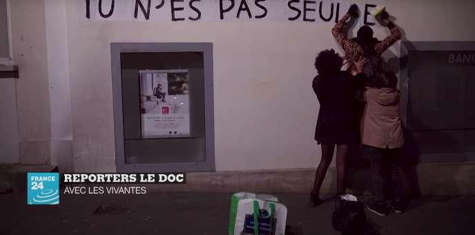 Capture d'écran du documentaire « Avec les vivantes»,de Mélina Huet.