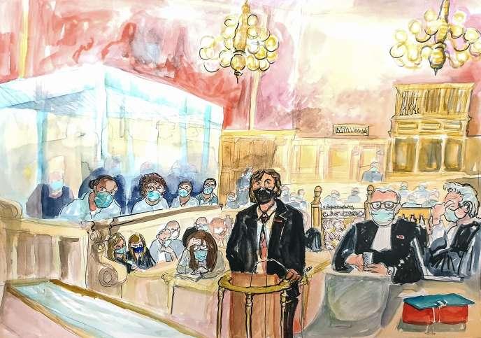 Mark Moogalian, professeur franco-américain de 56 ans, partie civile au procès du Thalys, livre son témoignage, jeudi 19 novembre.