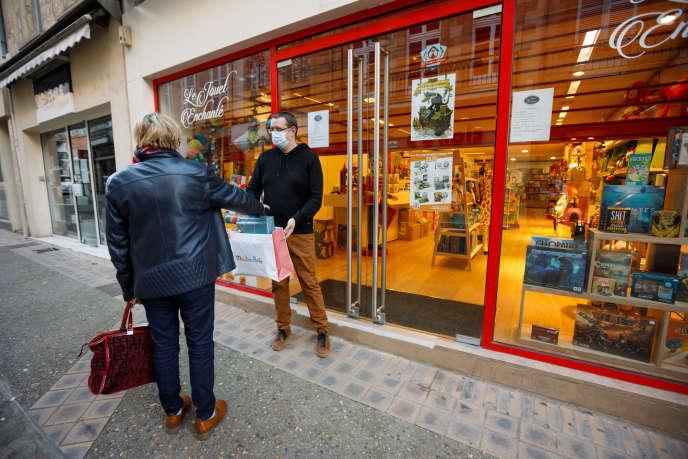Un magasin de jouets, à Moulins (Allier), le 13 novembre.