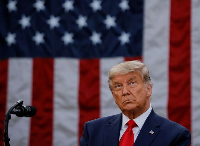 Le président américain, Donald Trump, à la Maison Blanche, à Washington, le 13 novembre.