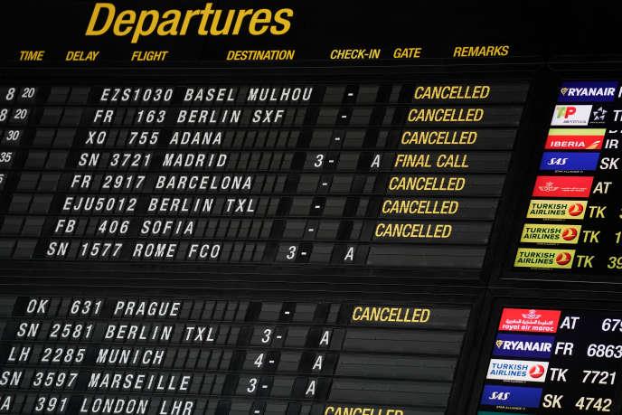 A l'aéroport de Bruxelles-National, à Zaventem, en Belgique, le 15 juin 2020.
