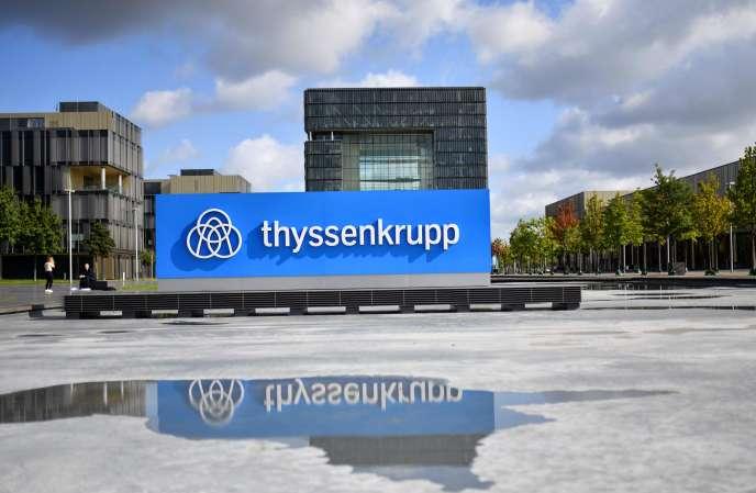 Au siège de ThyssenKrupp, à Essen (Rhénanie-du-Nord-Westphalie), en août 2019.