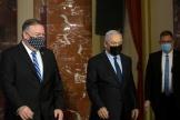 Le sécrétaire d'Etat américain, Mike Pompeo, et le premier ministre israélien, Benyamin Nétanyahou, le 19 novembre à Jérusalem.