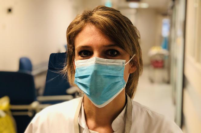 Aurélie Frenay, psychologue en réanimation au centre hospitalier Saint-Joseph Saint-Luc, à Lyon (Rhône).