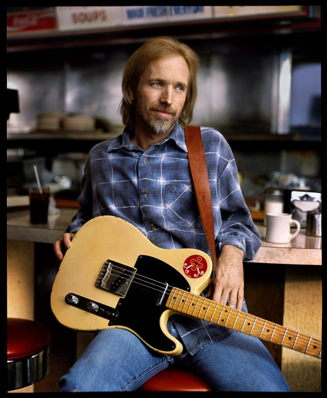 Tom Petty lors de l'enregistrementde l'album « Wildflowers».