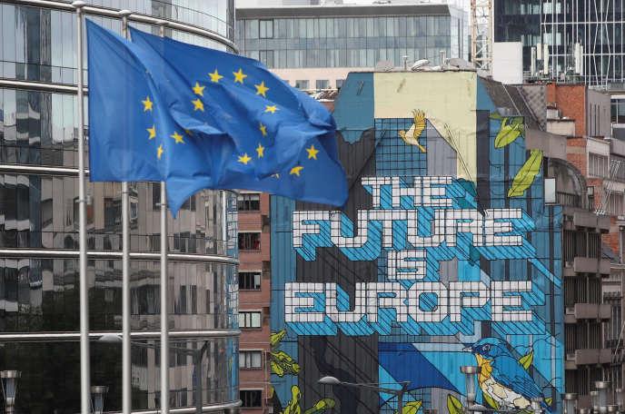 Le siège de la Commission européenne, à Bruxelles, le 15 octobre.